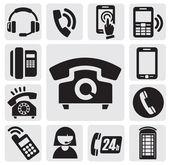 Ikony telefonu — Stock vektor