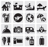 Toerisme ingesteld pictogrammen — Stockvector