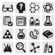 Science icon set - Imagen vectorial