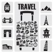 Travel  icon set — Stockvectorbeeld