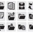Folder icons set — Stock Vector