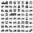 Big transportation icon set — Stock Vector