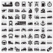 Big transportation icon set — Stock Vector #12233370