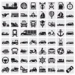 Big transportation icon set — Stock Vector