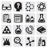 Science icon set — Stockvektor