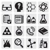 Vetenskap ikonuppsättning — Stockvektor