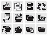 Zestaw ikon folderów — Wektor stockowy