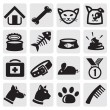 Dogs and cats set — Vector de stock