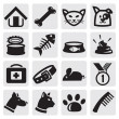 Vecteur: Dogs and cats set