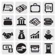 Business financial icons — Stock Vector #12285239