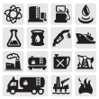Oil and petrol icons - Stock Vector