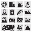 Oil and petrol icons — Stock Vector