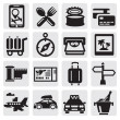 Vacation travel icon set — Stock Vector