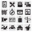 Vacation travel icon set — Stock Vector #12285374