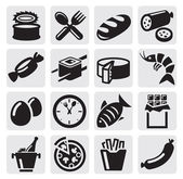 Food icons — Stok Vektör