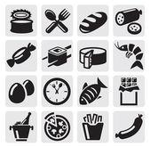 Gıda simgeler — Stok Vektör