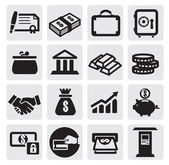 Business financial icons — Stok Vektör