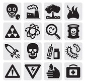 Pollution set — Stockvector