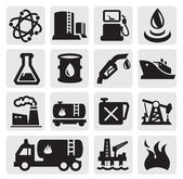 Oil and petrol icons — Vector de stock