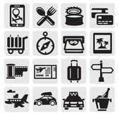 Conjunto de iconos de viajes de vacaciones — Vector de stock