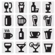 Beverage icons — Stock Vector #12310248