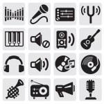 müzik simgeleri — Stok Vektör #12310258