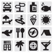 Tourism set icons — Vektorgrafik