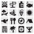 Tourism set icons — Stockvectorbeeld