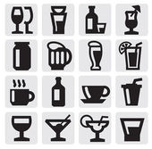 Beverage icons — Stock Vector