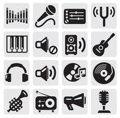 Icônes de la musique — Vecteur
