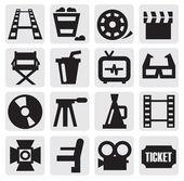Movie icon set — Stock Vector