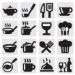 Restaurant, cafe and bar icons — Stock Vector #12333053