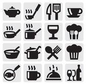 Restaurant, café und bar-symbole — Stockvektor