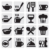 Restaurant, cafe and bar icons — Stockvektor