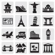 Travel and landmarks set — Stock vektor