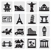 Viajes y lugares — Vector de stock