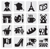 French culture — Stock Vector