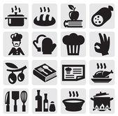 Icônes de cuisine — Vecteur