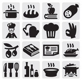 Kitchen icons — Stockvektor