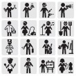 Occupations and professions set — Vector de stock