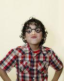 Latin Boy Funny Faces — Stock Photo
