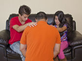 Family Praying for Each Other — Stock Photo
