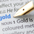 Gold - Dictionary Series — Stock Photo #11015509