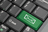 Mail on keyboard — Stock fotografie