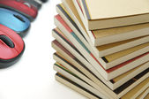 Books and mouses — Stock Photo