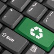 Recycle sign on a laptop — Stock Photo