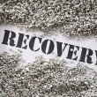 Stock Photo: Recovery -- Treasure Word Series
