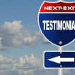 Testimonial road sign — Stock Photo