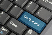 On demand on a laptop — Stock Photo