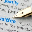 Justice - Dictionary Series — Stock Photo